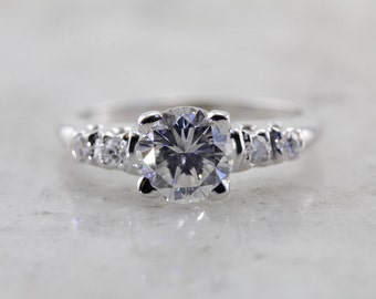 Over One Carat, Classic Vintage Diamond Engagement Ring CNFA32-N