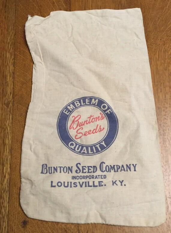vintage cotton sack bunton s louisville kentucky blue