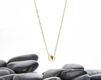 Caduceus Necklace, Medical Jewelry, Medical Necklace, Nurse Necklace, Nurse Jewelry, Caduceus Pendant, Caduceus Charm, Nurse Gift, n245m