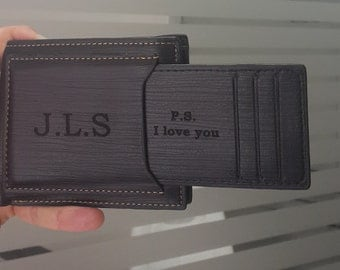 personalized men wallet, leather wallet, mens wallet, engraved wallet, groomsmen, men's wallet, fathers day, valentines day, gift for men