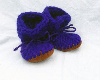 Baby Royal - Crochet Baby Booties, Baby Booties Crochet, Baby Boy Booties, Knitted Wool Booties for Baby Girl & Boy, Baby Slippers, Booties