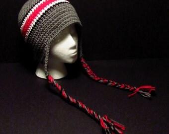 OSU Ohio State Buckeyes Helmet Hat - Crochet