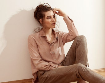 Shirt-Blouse with silver collar