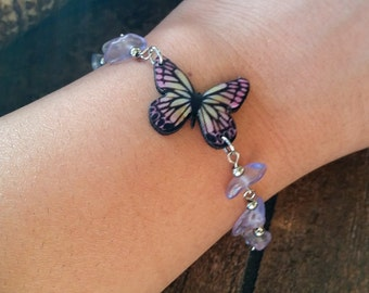Purple Butterfly Bracelet monarch butterfly bracelet