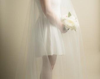 Long Blusher Sheer Drop Extra Wide Wedding Veil (Cathedral Veil, Illusion Veil, Drape Veil, Long Veil, Waltz, Chapel, Kim Kardashian veil)