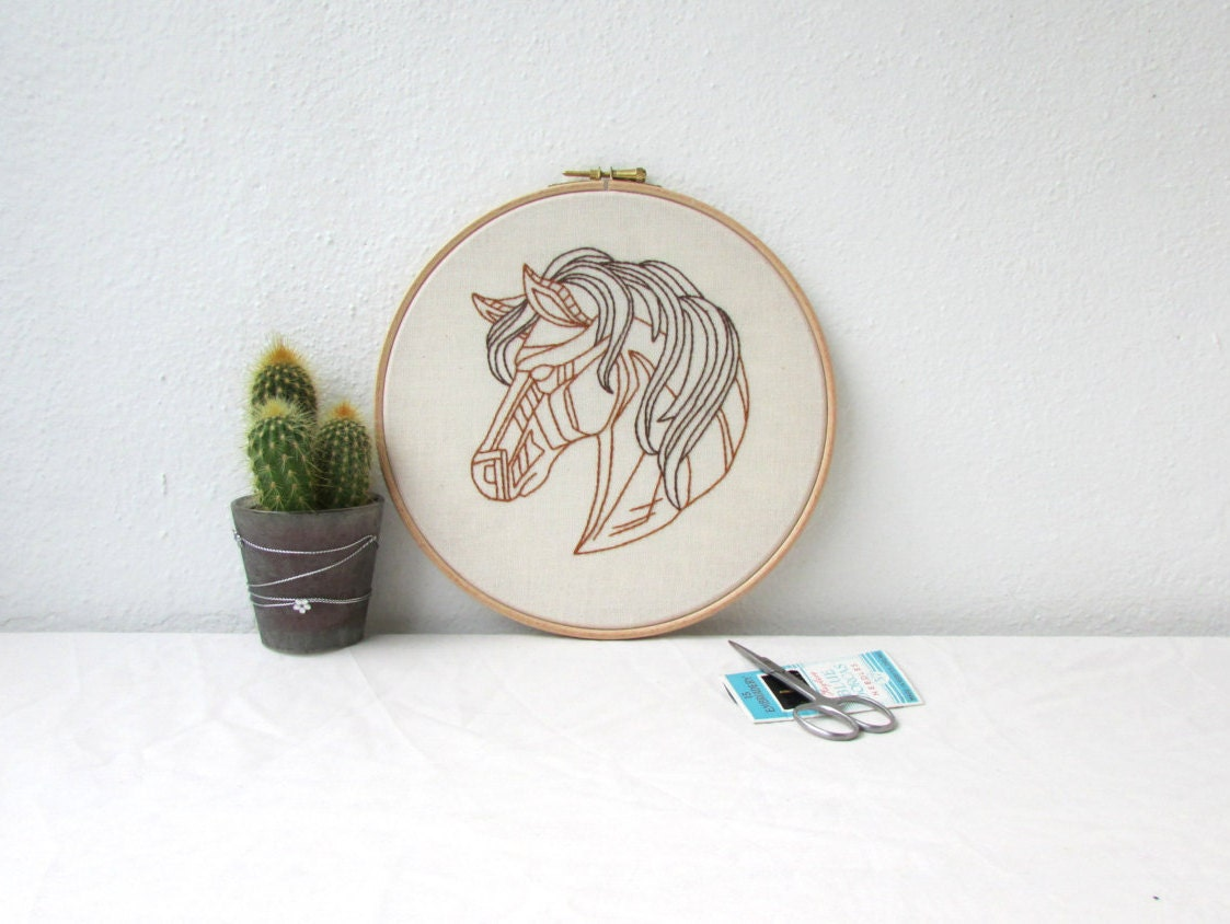 Embroidery Wall Hanging Hand Embroidery Horse Wall Art 8
