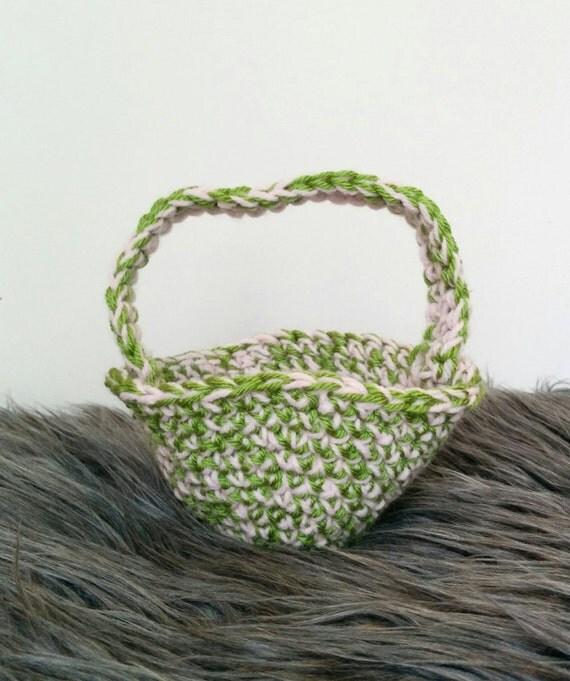 Handmade Crochet Basket : Handmade crochet basket easter