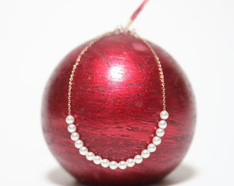Swarovski Pearl Bracelet, Sterling Silver (Rose Gold)