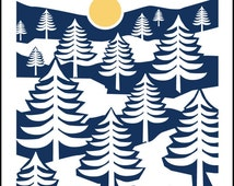 Midnight Sun- a Nordic poster by Holiday House Design