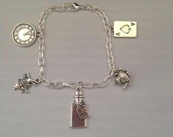 Alice in Wonderland Fairytale Charm Bracelet {Alice Through the Looking Glass}