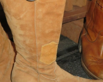 Womens italian vintage suede high end boots sebastiano migliore