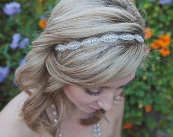 Rhinestone bridal headband, wedding headband, wedding hair accessories, crystal headband, Bridal Headpiece, bridesmaid, Flower Girl, Prom
