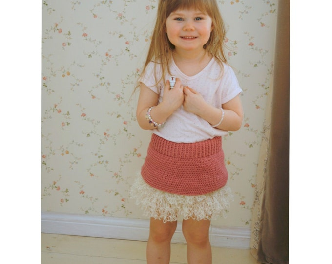 CROCHET PATTERN tutu mini skirt Styna with ruffles and lace (toddler/child sizes)
