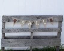 Fall Banner- Thanksgiving Banner- Fall Decor- Thanksgiving Decor- Fall Decoration- Custom Burlap Banner- Fall Garland- Autumn Banner