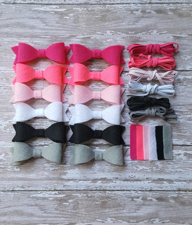 diy headband kit baby shower activity kit felt bow