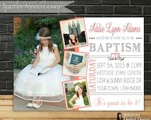 "LDS Girl Baptism Invitation, LDS Baptism Invitation, Customized photo card,  5x7 Printable Digital File, ""Choose the Right"""