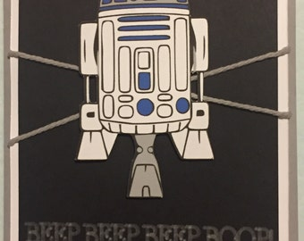 Disney Star Wars R2D2 birthday greeting card