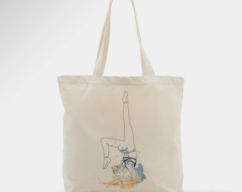 Yoga coton tote bag, woman, bag, zen, gift