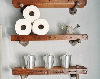Tag res de salle de bain bois grange r cup r par - Etagere de salle de bain en bois ...