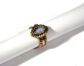 Lace ring Moonstone Wire wrapped ring Gift woman gift girl Gift girlfriend Unique engagement Copper wire jewelry Handmade jewelry