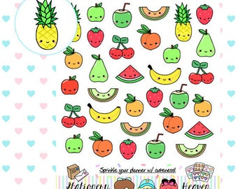 Kawaii Fruits   Perfect for any planner (#325)