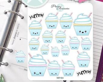Cupcake Stickers Planner Stickers Erin Condren Life Planner Birthday Stickers Kawaii Stickers Planner Accessories Dessert Stickers Cute 184