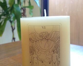 Tarot - The Lovers Card - Pillar Candle