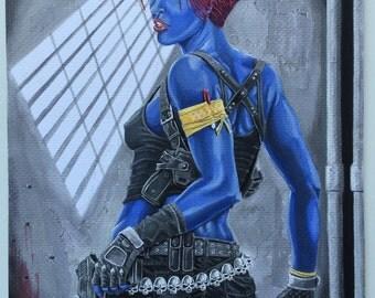 Mystique: Dark Shadows, Tempera Painting