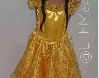 Belle dress/ Belle Princess dress /Belle Princess Birthday Dress / Belle Princess Costume/ Princess Dress Girl/ Beauty and the Beast Dress