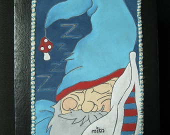 Sleepy Dwarf Art Quilt ORIGINAL Mock Pie Studio Painting