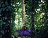 Purple Butterfly Fairy cape cloak isis wings costume short small