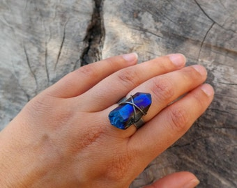 Flame Aura Quartz Ring
