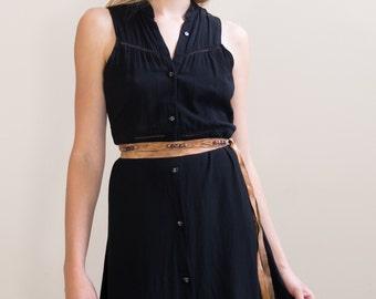 Tourmaline and Leather Wrap Belt