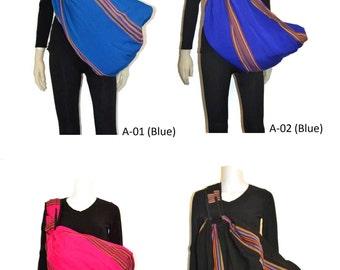 Baby sling, Baby Carrier, Buckle-clip slings, Guatemalan 100% Organic cotton baby slings,  Adjustable baby slings, Newborn toddler slings