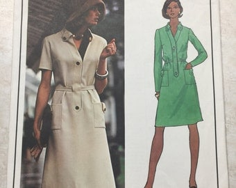 Vogue 2935 / Paris Orginal Sewing Pattern By Molyneux / Loose-Fitting Lined Dress / Size 10