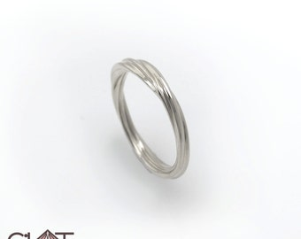 Infinity Twist Ring, sterling silver (925)  infinity twist ring, Infinity Ring, Twisted Band, Promise Ring, Modern Ring.