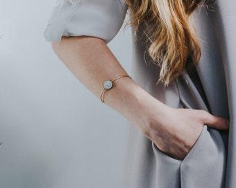 Minimal Bracelet, Dainty Bracelet, Everyday Bracelet, Marble bracelet, Delicate Minimal Bracelet, Christmas Gift, Birthday Gift, White