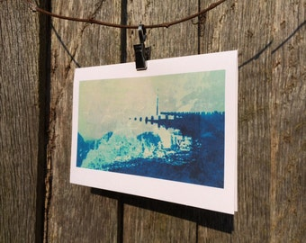 The Pier Seashore Waves Greetings Card