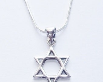 Men's Star of David Necklace - Mens Sterling Silver Necklace - Mens Jewelry - Necklaces For Men - Gift for Him - Jewelry for Men