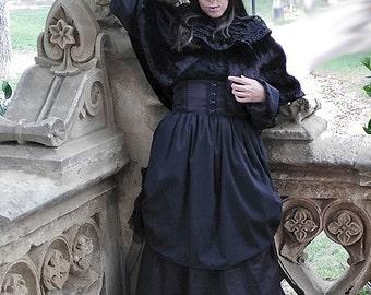 Custom Victorian Long Skirt, Steampunk Gothic,  Mourning, Gothic Lolita, EGA, EGL, Plus Size