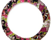 Pink Floral Steering Wheel Cover-Car Accessory-Floral Wheel Cover-Car Decor-Cute Car Accessory for Women