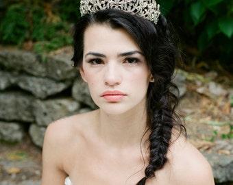 Bridal Tiara Swarovski Tiara - CALISTA Swarovski Bridal Tiara, Crystal Wedding Crown, Rhinestone Tiara, Wedding Tiara, Tiara Crown