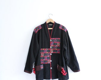 Ethnic Thai Hill Tribe Embroidered Jacket