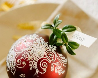 Hand-Painted Paisley Ornament