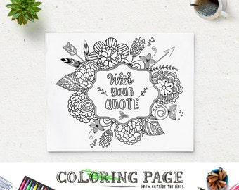 personalized coloring page design printable coloring quotes. Black Bedroom Furniture Sets. Home Design Ideas