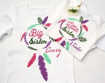 Big Sister Little Sister Outfits / Twin Outfits / Little Sister Big Sister Bodysuits / Big Sister Shirt / Little Brother Shirt