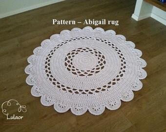 Pattern for Abigail rug, T-shirt yarn rug