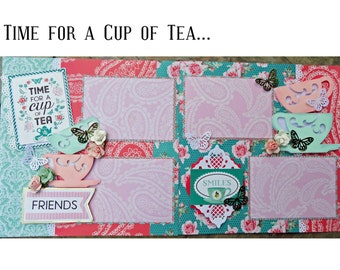 Time for Tea 2 page 12 x 12 Scrapbook Layout Kit