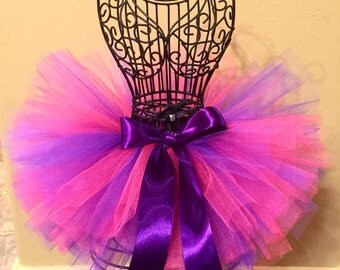 Pink and Purple Tutu, Baby Tutu, Birthday Tutu, Toddler Tutu, Infant Tutu, Newborn Tutu, Cheshire The Cat Tutu, Cheshire Tutu, Hot Pink Tutu