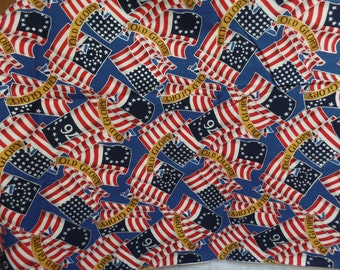 Old Glory, Robert Kaufman Co.  Different American Flags.